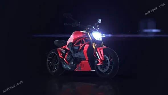 帅气的变形摩托车标志揭示特效AE模板-芒果源码