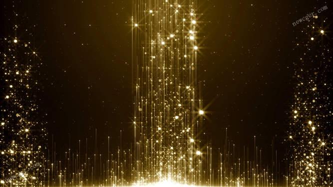 上升的4K级金色粒子背景特效视频素材,可循环