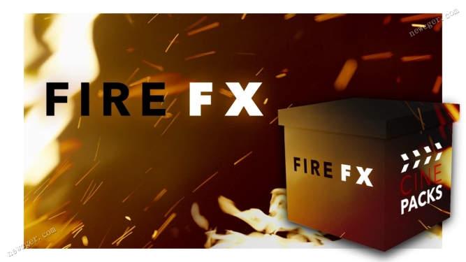 可渲染震撼炫酷气氛的多个Fire火焰特效视频素材