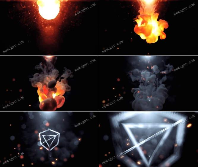喷涌火焰标志AE模板.jpg