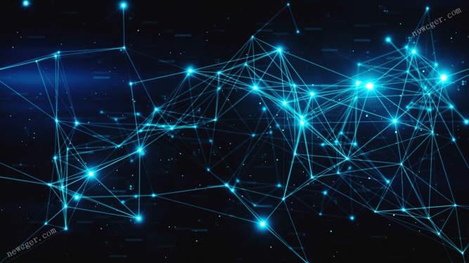 闪光的数字数据节点Plexus点线特效循环视频素材