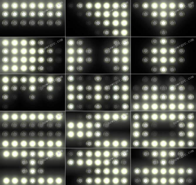 15段漂亮的舞台LED灯光视频素材,可循环
