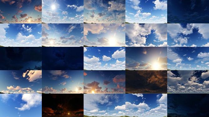 25段4K级别的sky天空景色视频素材