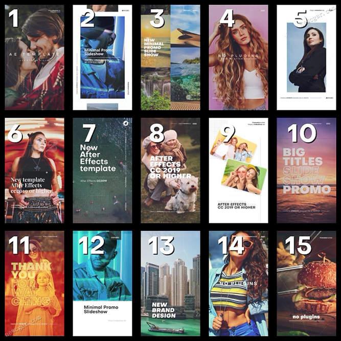 15款时尚现代风格的Instagram Story屏幕设计样机AE模板
