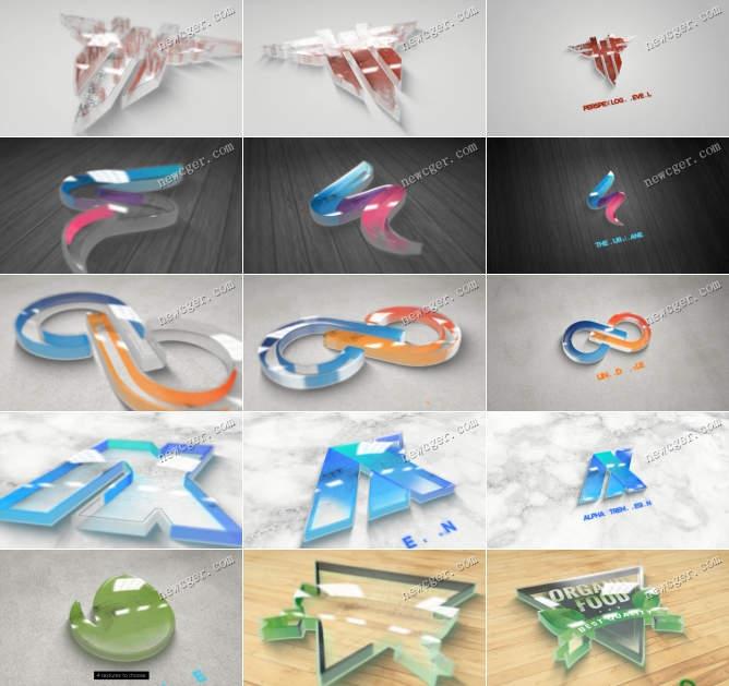 透明玻璃和塑料质感的标志AE模板.jpg
