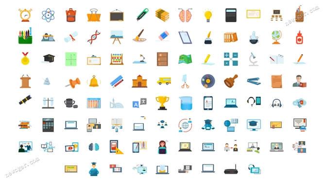 100个教育主题图标AE模板.jpg