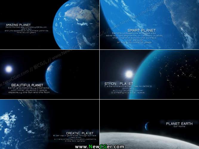 月球的科幻电影_震撼大气的地球主题电影字幕宣传片AE模板_新CG儿 - 数字视觉分享 ...