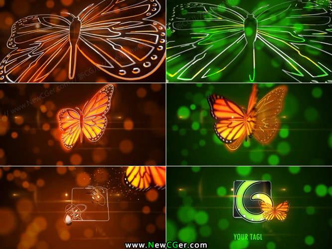 ae cs6迅雷下载_唯美梦幻的线条勾勒蝴蝶logo揭示片头AE模板_新CG儿 - 数字视觉 ...