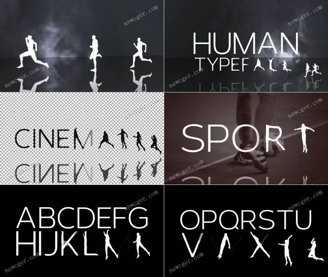 人物演绎成字母AE模板.jpg